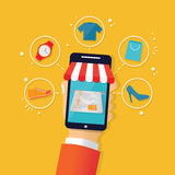 Credit Mobile Payment Stock Photography