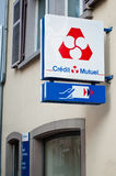 Credit mutuel french bank signage Stock Image