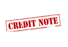 Credit note Stock Images