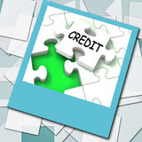 Credit Photo Means Loans Financing  Or Borrowed Money Stock Photography