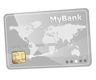 Credit plastic bank card icon royalty free illustration