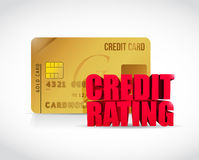 Credit rating and credit card illustration Stock Photos