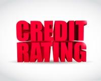 Credit rating 3d text sign illustration design Stock Photo
