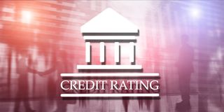 Credit Rating. Finance banking investment concept. Abstract background stock illustration