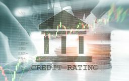 Credit Rating. Finance, capital banking and investment concept. stock photo