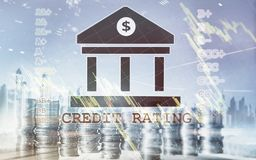 Credit Rating. Finance, capital banking and investment concept.  royalty free stock photos