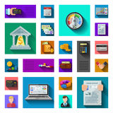 Credit Rating Flat Shadow Icons Royalty Free Stock Images