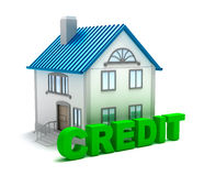 Credit for real estate. 3D concept Stock Photos