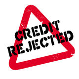 Credit Rejected rubber stamp Stock Image
