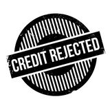 Credit Rejected rubber stamp Stock Photo