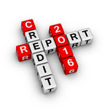 Credit report 2016 Royalty Free Stock Photography