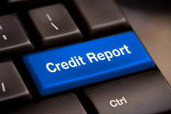 Credit report free access loan check score good debt Stock Photo
