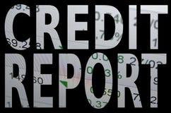 Credit report. Inscription Credit report. Financial concept Stock Photos