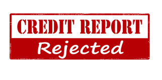 Credit report rejected Stock Image