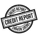 Credit Report rubber stamp. Grunge design with dust scratches. Effects can be easily removed for a clean, crisp look. Color is easily changed Royalty Free Stock Photography