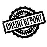 Credit Report rubber stamp. Grunge design with dust scratches. Effects can be easily removed for a clean, crisp look. Color is easily changed Royalty Free Stock Images