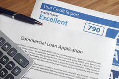 Credit report with score. On a desk royalty free stock photos