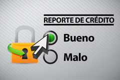 Credit Report selection in Spanish Royalty Free Stock Photos