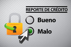 Credit Report selection in Spanish Stock Photos