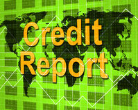 Credit Report Shows Debit Card And Analysis Stock Images