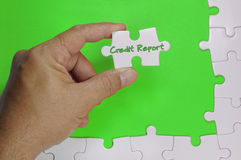 Credit Report Text - Business Concept Stock Image