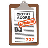 Credit Score Approved Graphic Royalty Free Stock Image