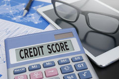CREDIT SCORE Stock Photography