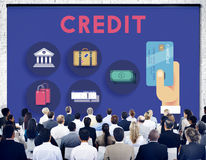 Credit Score Cash Flow Finance Concept. People Listening Discussion Credit Score Cash Flow Finance royalty free stock photos