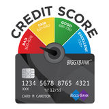 Credit Score Chart with Credit Card Royalty Free Stock Photos
