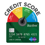Credit Score Chart royalty free illustration
