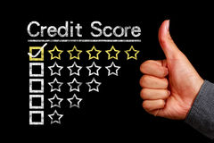 Credit score concept Royalty Free Stock Images
