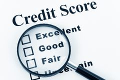 business Credit Score stock photography