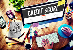 Credit Score Financial payment Rating Budget Money Concept Stock Photo