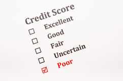 Credit score form stock image