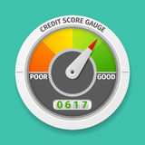 Credit score gauge. Good and bad rating, information financial rate, vector illustration Stock Images