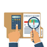 Credit score, gauge Royalty Free Stock Photography