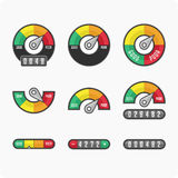 Credit score indicators and gauges. Royalty Free Stock Photos