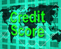 Credit Score Means Debit Card And Bankcard Stock Photography