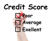 Credit score poor Stock Images