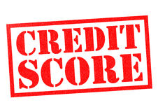 CREDIT SCORE. Red Rubber Stamp over a white background royalty free illustration