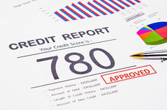 Credit score report. royalty free stock images