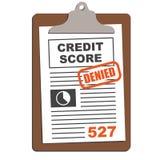 Credit Score Report Stock Photo