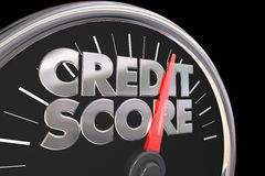 Credit Score Speedometer Better Improve Rating Number. 3d Illustration stock illustration