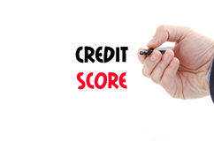 Credit score text concept. Isolated over white background stock images