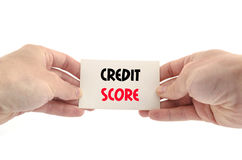 Credit score text concept. Over white background stock images