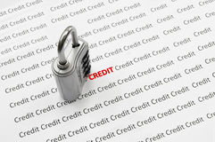 Credit security Royalty Free Stock Photos