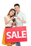 Credit for shopping Stock Photography