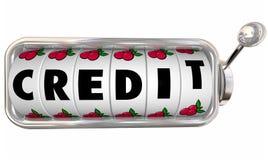 Credit Slot Machine Wheels Dials Improve Score Rating Borrow Mon Stock Photography