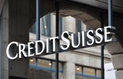 Credit Suisse immagine stock