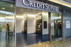 Credit Suisse bank Stock Photos